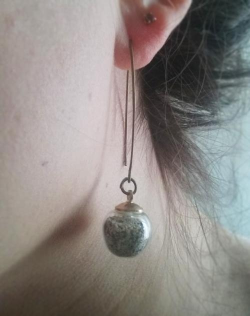 Boucle d'oreille bubble sable-peau.jpg
